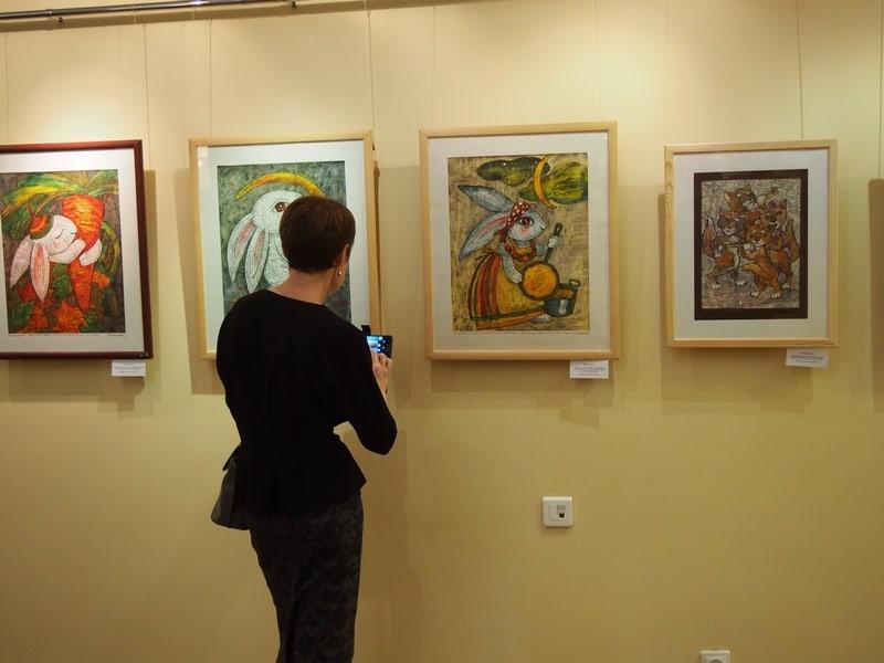 На выставке Нелли Григорьевой
