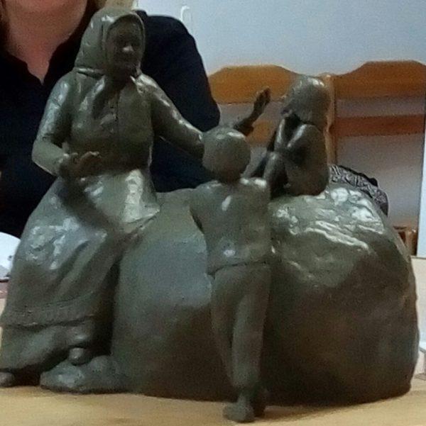 Эскиз памятника Ирине Федосовой Александра Кима. Фото Натальи Мешковой
