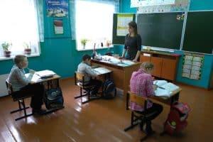 Урок в Савиновской начальной школе-саде Пряжинского района. Фото: vk.com/minnazrk