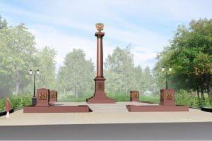 Архитектурно-скульптурное решение памятной стелы «Город воинской славы» одинаково во всех городах. Фото с сайта администрации Петрозаводска