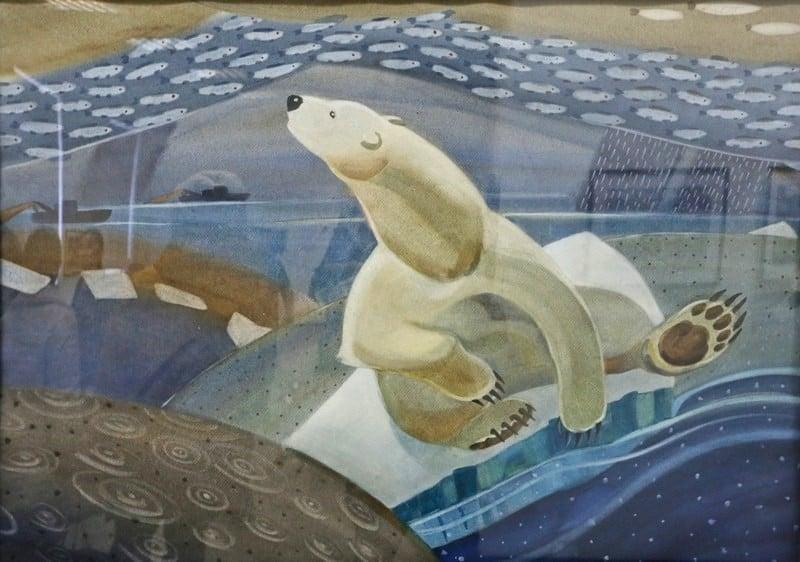 """Юлия Коросова. Из триптиха """"Удивительная жизнь полярного медведя"""""""