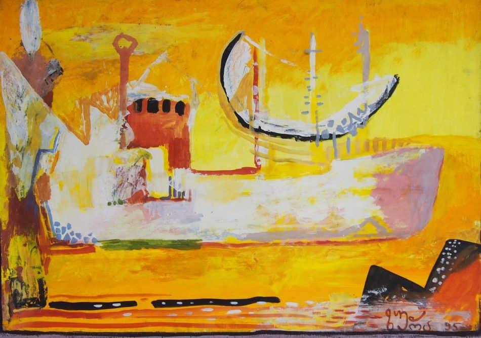 Зура Евгений Цхадая. Белый корабль в Поти