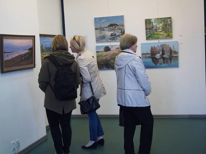На выставке олонецких художников. Фото Ирины Ларионовой