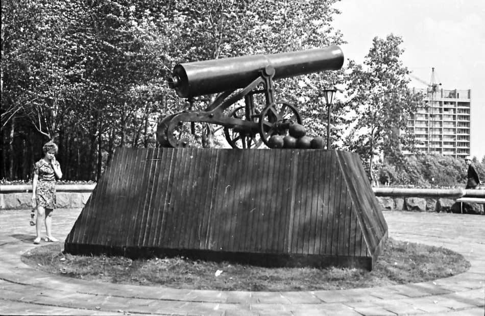 Пушка на Лососинке. 1970-е. Фото Бориса Семенова