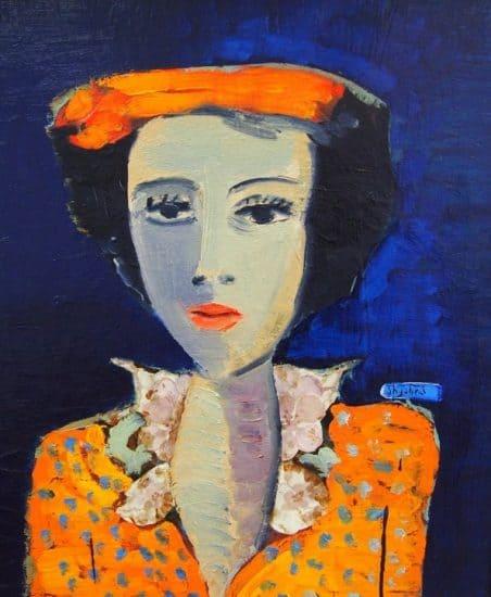 Валерий Аркания. Женщина в оранжевом платье
