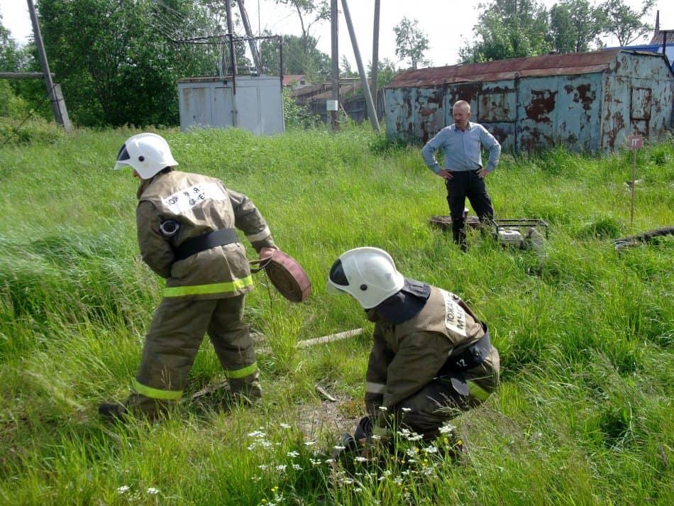 Добровольные пожарные деревни Пай