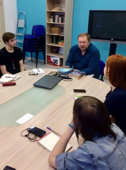 Мастер-класс Дмитрия Новикова в Школе творческого письма