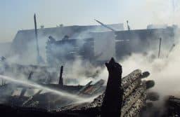 Пожар в Ялгубе