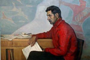 Портрет Эдуарда Патлаенко кисти Фолке Ниеминена. 1964 год