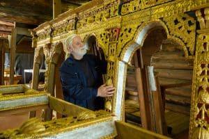 На острове Кижи в сентябре начнётся установка иконостаса Преображенской церкви