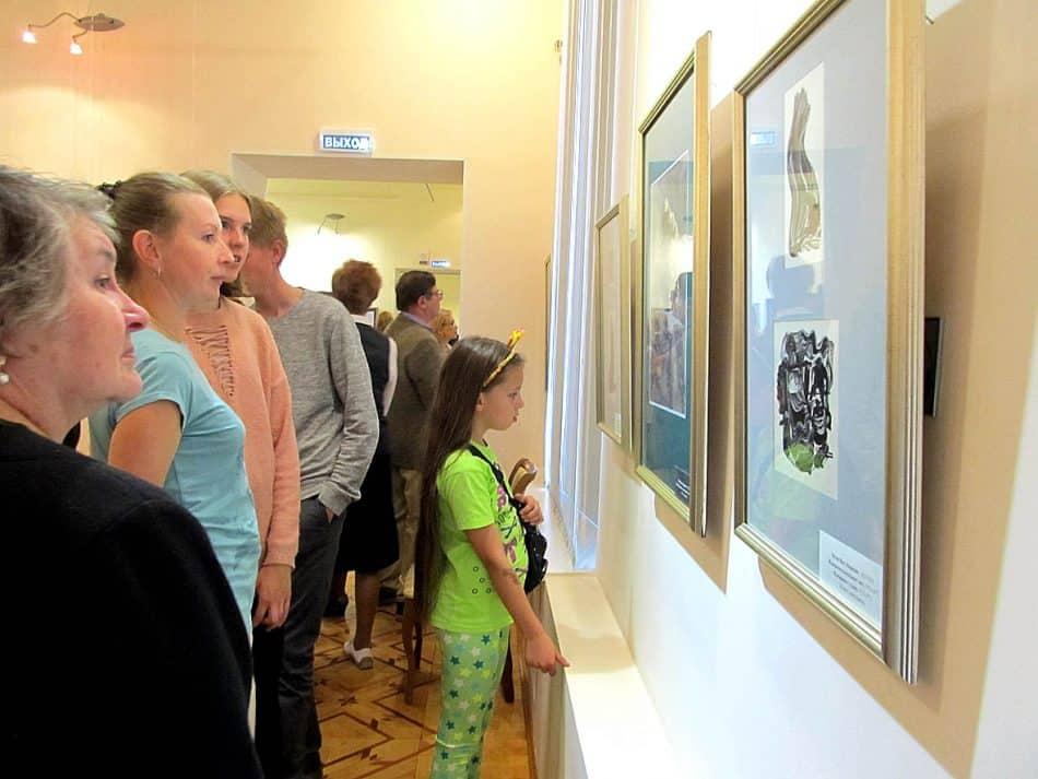 На вернисаже «Мюд Мечев. Связь времен» В Музее изобразительных искусств Карелии