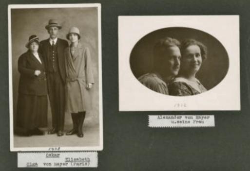 Майеры из швейцарского архива Эдуарда Майера