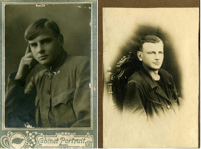 Евгений Майер около 1922-23 и 1934