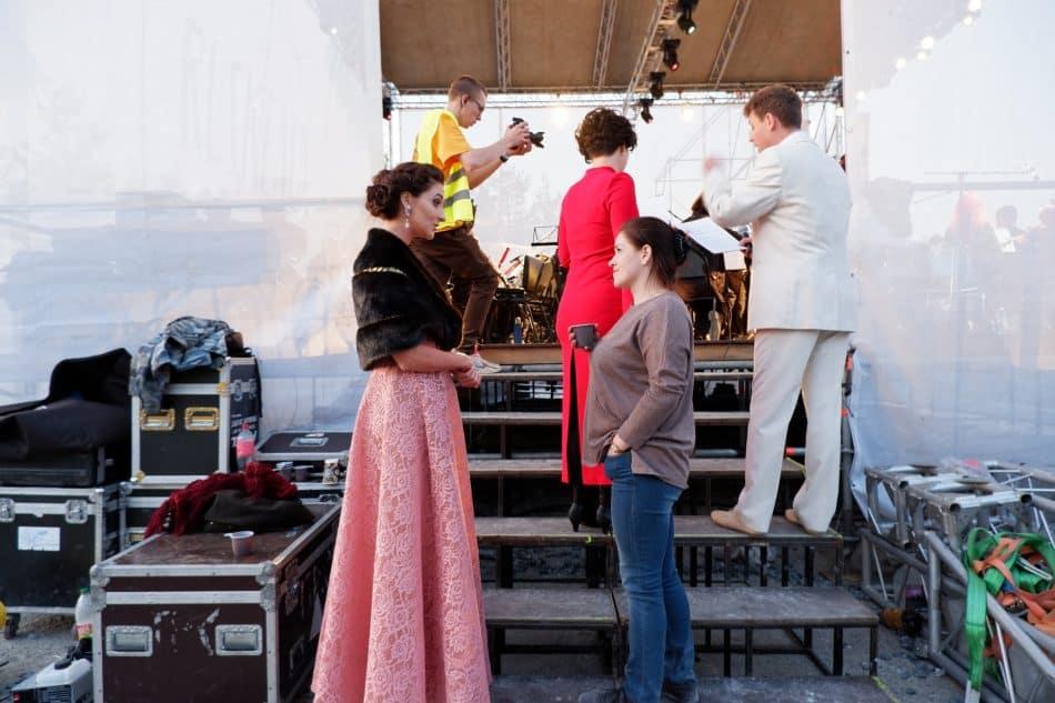 Татьяна Талицкая (справа) на фестивале в Рускеале