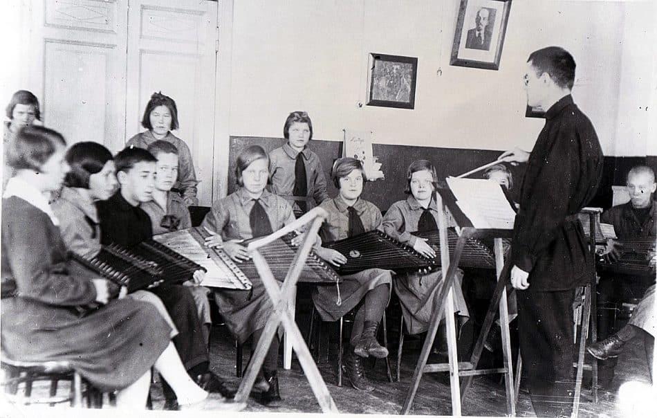 Оркестр «Кантеле» в Детском доме. 20 октября 1932 года