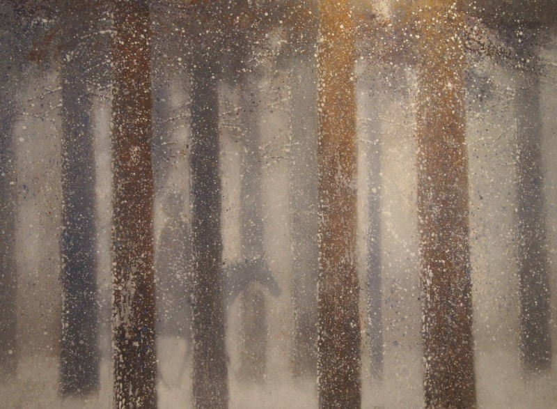При виде этого полотна припомнился Магритт с его «Препятствием пустоты». Но у Зорикто иная реальность, почти волшебная, фантастическая, живая...