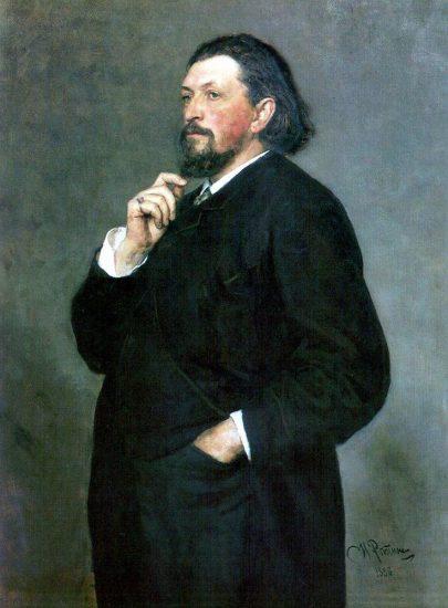 Портрет Митрофана Петровича Беляева работы Ильи Репина. 1886 год