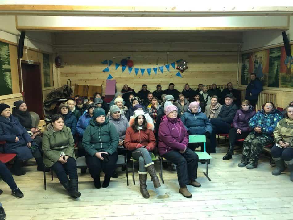 Встреча с жителями поселка Луусалми