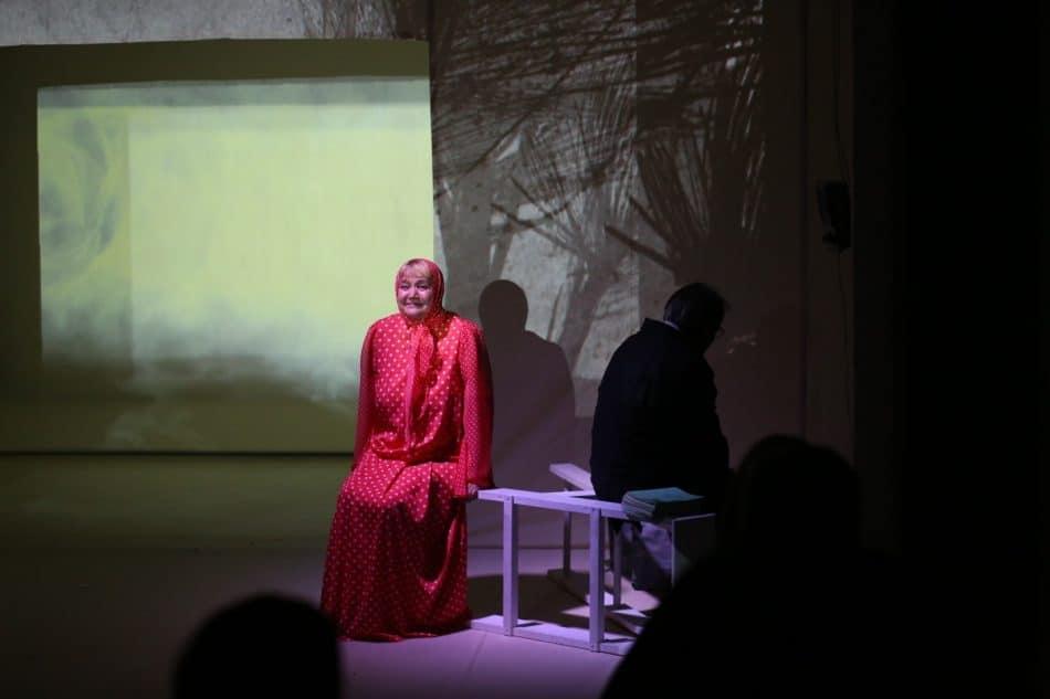 Сцена из спектакля «Матрёнин двор». Фото: Людмила Корвякова