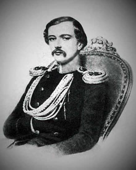 Андрей Николаевич Карамзин, старший сын Н.М. Карамзина,второй муж Авроры Карловны Демидовой. Литография А. Леграна с акварели Эмилио Росси. 1846 –1847