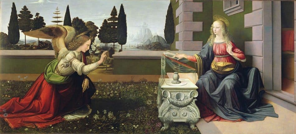 Леонардо да Винчи Благовещение. 1472-1475