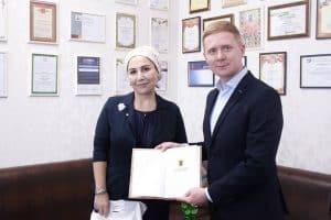 Евгений Кустов в гимназии №14 города Грозный