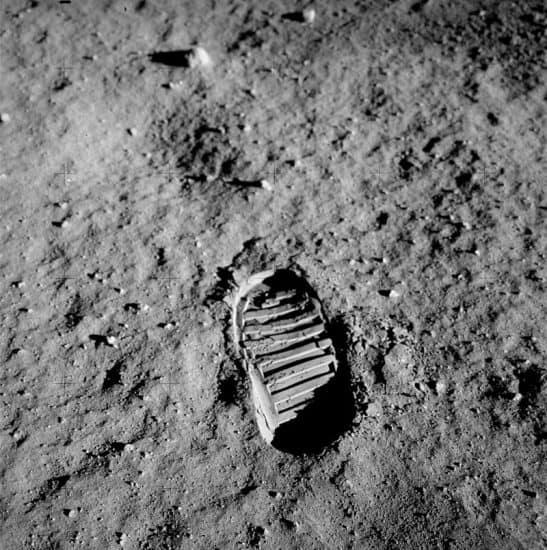 След Олдрина на Луне. Фото: ru.wikipedia.org