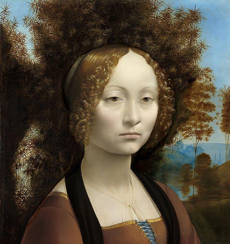 Леонардо да Винчи. Портрет Джиневры де Бенчи. ок. 1474—1476