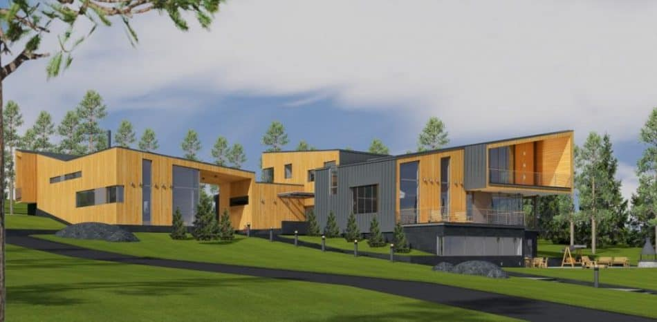 Проект гостевого дома в составе туристического комплекса. Архитектор Евгений Таев
