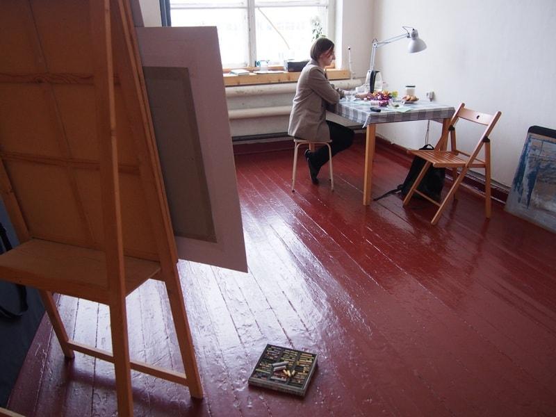 В мастерской Анны Грязновой. Фото: Ирина Ларионова