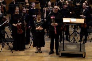 Татьяна Кончакова с участниками концерта. Фото: Федор Гаранжа