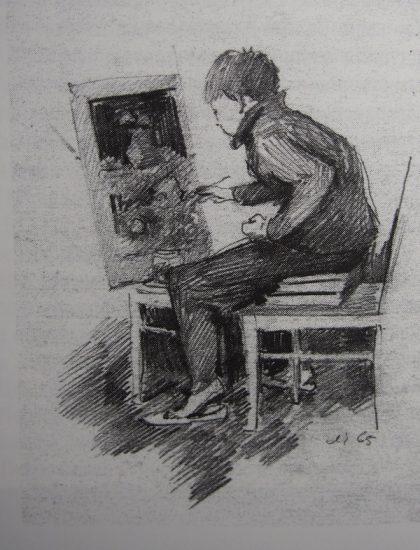 Лазарь Чинёнов. Сын Сережа рисует