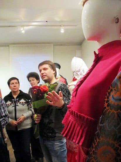 Первую экскурсию по выставке Алексей Медведев провел сам