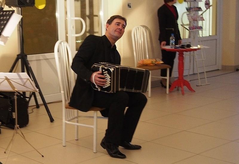 Михаил Тоцкий в Карельской филармонии. Фото: Ирина Ларионова