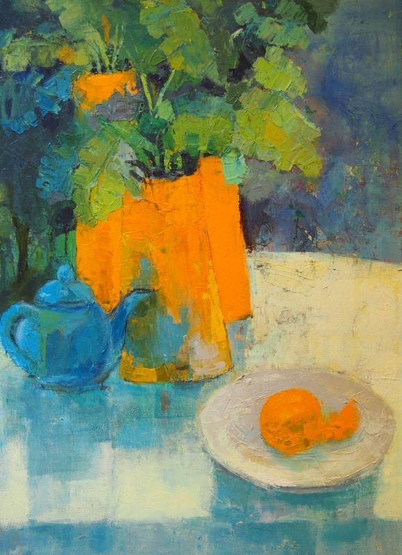 .Валентина Гайчук. Три оранжевые вазы