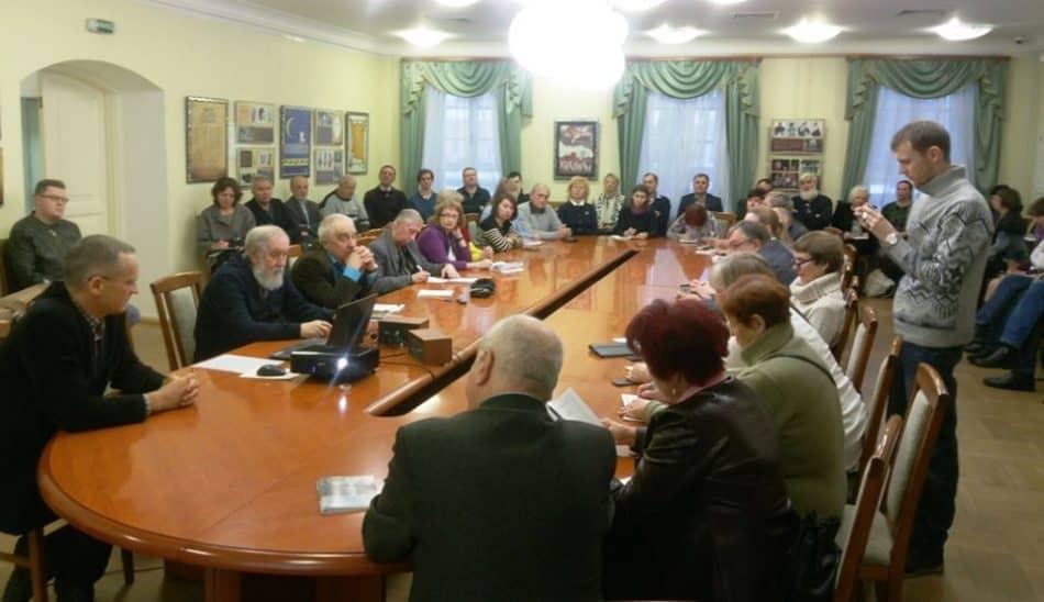 Круглый стол в Национальном музее Карелии. Фото: Леонид Николаев