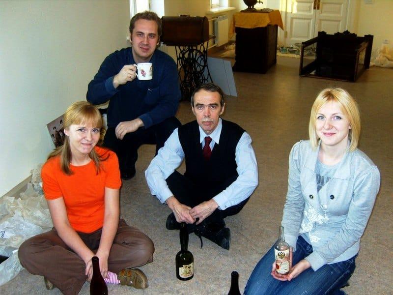 Татьяна с коллегами Екатериной Логвиненко, Ильей Серко и Сергеем Михайловичем Титовым (в центре)