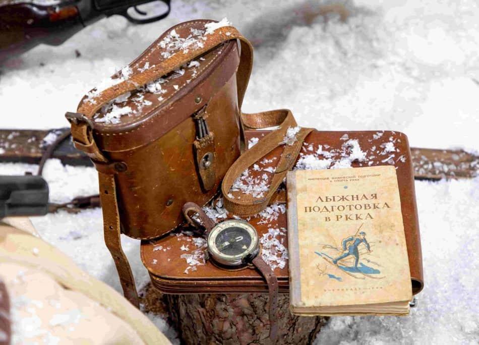 В ходе войны для воинов РККА было выпущено пособие по лыжной подготовке. Из коллекции Валерия Лазарева