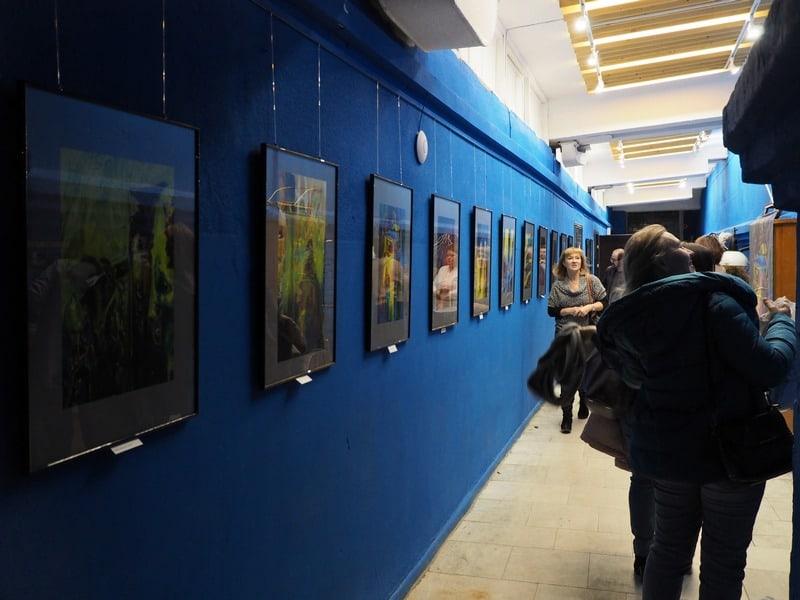 Синий коридор.Фото Оксаны Лазаревой