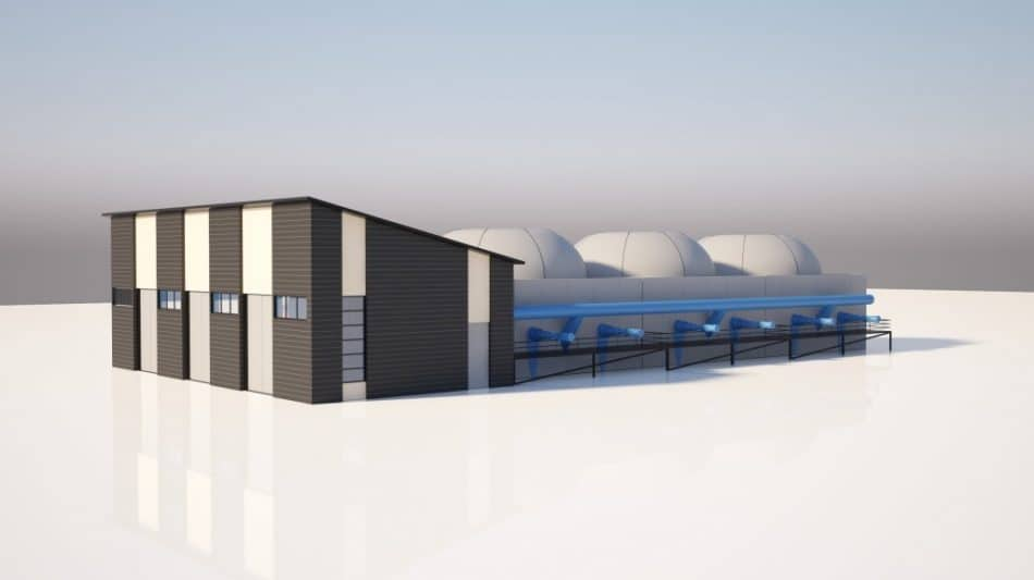 Проект здания Экотехнопарка по технологии Hardferm