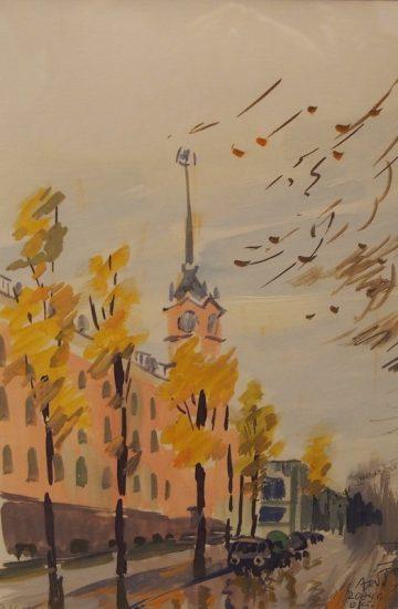 На выставке Бориса Акбулатова «Заонежье – Рим». Это уже Петрозаводск