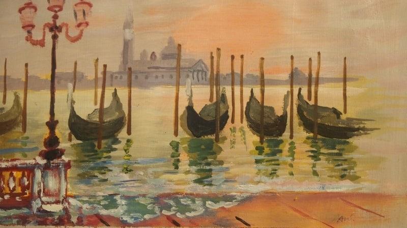На выставке Бориса Акбулатова «Заонежье – Рим»