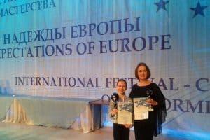 Наталья Гальцина и ее воспитанница Екатерина Павлова