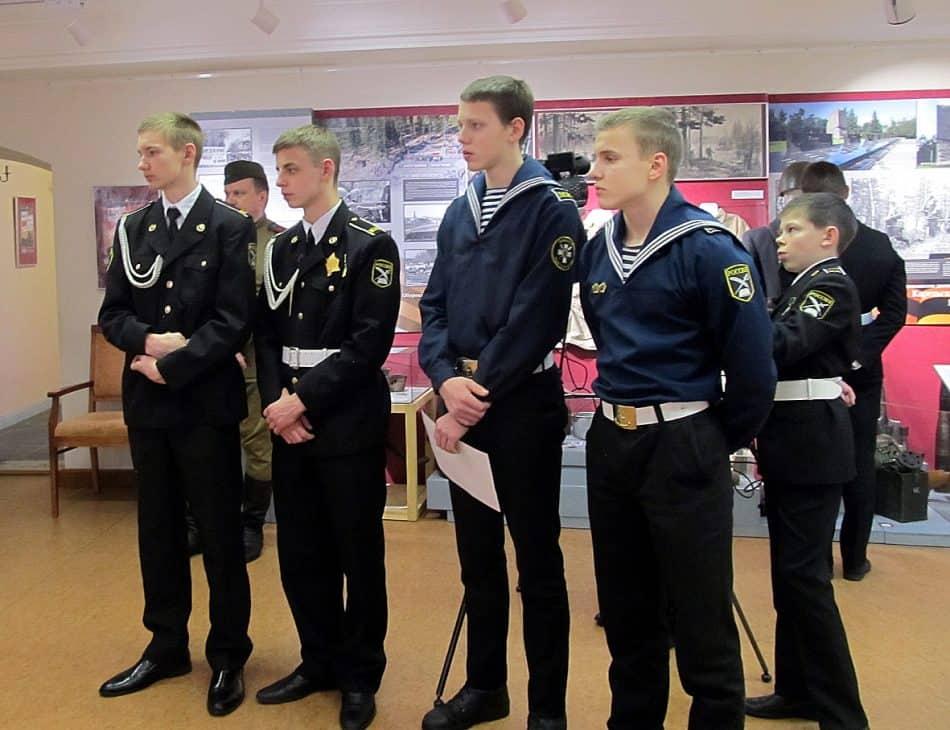 Петрозаводские кадеты в музее
