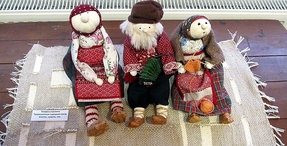 Альфина Ерохина. Традиционная народная кукла. Хлопок, шерсть, лен