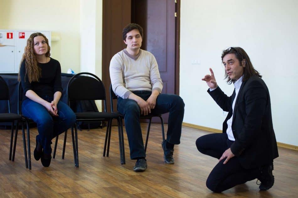 Франк Маттус на репетиции (справа). Фото: Владимир Волотовский-младший