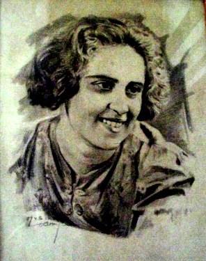 Портрет мамы. Карандаш. 1943