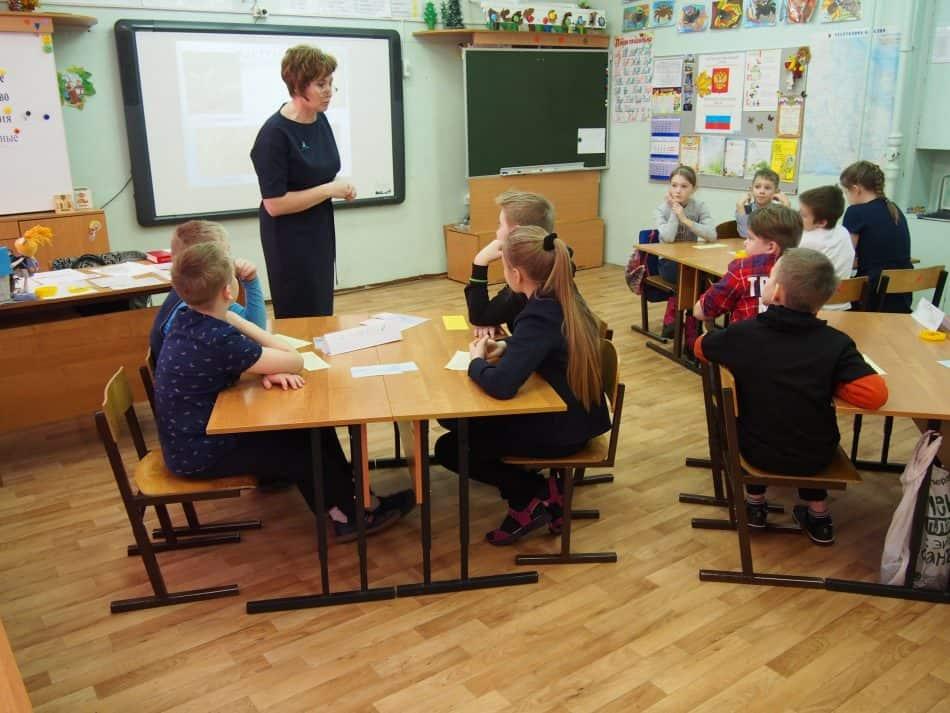Открытый урок в школе поселка Новая Вилга Прионежского района для участников Дня сельской школы. Фото Марии Голубевой