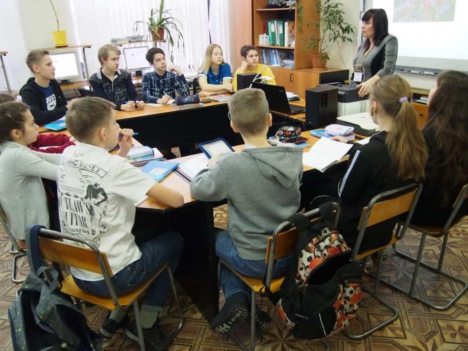 В школе поселка Новая Вилга Прионежского района. Фото Марии Голубевой