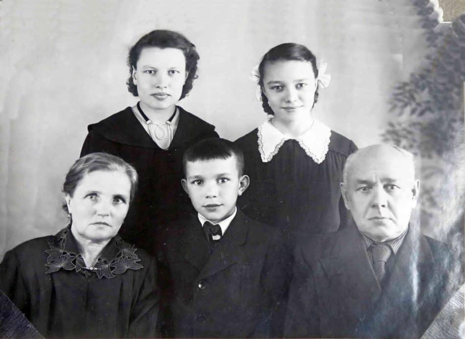 Семья Родькиных. 1955 год